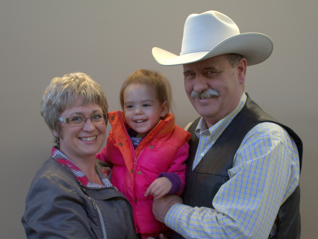 Gordon & Charlene with Granddaughter Claire