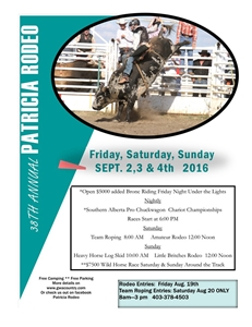 Patricia Rodeo Sept 2,3 & 4, 2015