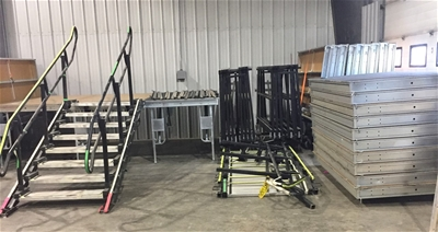 Commercial Stage Platforms - Wenger Showmaster 3 pkgs approx 672 sq ft each