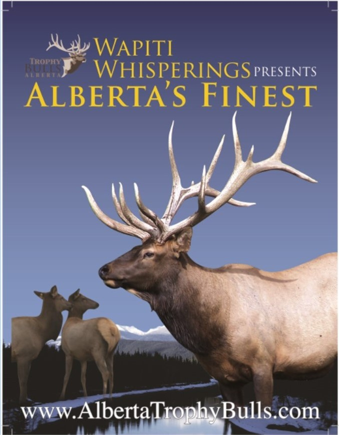 4X (CHOICE 4 ISSUES) LEFT PAGE OF THE CENTRE SPREAD ADVERTISING WAPITI WHISPERING AND ALBERTA'S FINEST